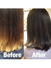 【trecolori】ダークグレージュ/Before after.40