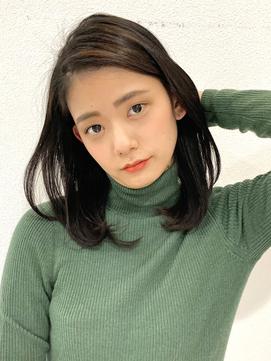 前髪なし☆柔かワンカールヘア☆