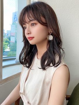 モテ髪/大人かわいい/ホワイトアッシュ/エアリーミディ/韓国ヘア