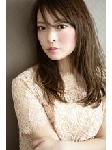 【noine*SASAKI】シースルーバング×外国人風ヴェールカラー センター分け.11