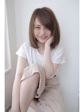 抜け感暗髪☆彡斜めバングワンカールボブ 巻き髪.44