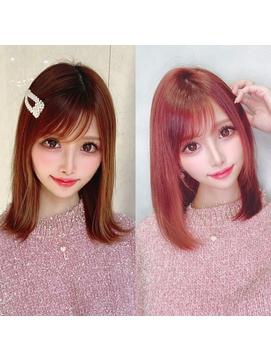 【regalo】愛されニュアンスヘアー 小顔ラインbefore & after