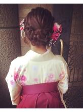 【下北沢*I'll b hair*】袴に似合う★タンバルモリ編み込みset 編み込み.54