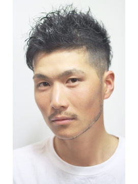 ビジネスツイストスパイラル☆ツーブロック七三分け