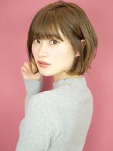 可愛さアップなひし形シルエットのエアリーショート☆.5