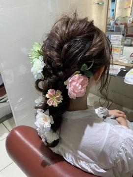 編み下ろし☆ラプンツェル風ヘア