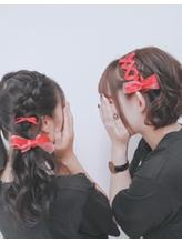 ハートヘアアレンジ/編み込み/リボンの編み込み★オタ活ヘアメ.19