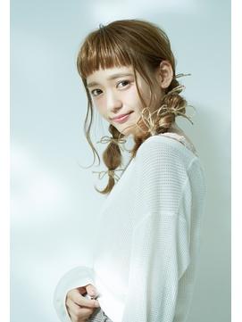 短めぱっつん前髪と☆秋のモカージュカラーとアレンジスタイル☆