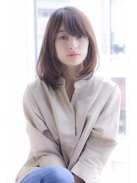 【寺尾拓巳】大人かわいい毛先ワンカールパーマひし形ミディアム
