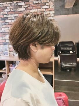 40代50代60代70代  耳かけショートヘア -名古屋の美容室actif-