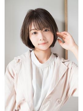 【東 純平】ナチュラル可愛い 小顔 ショートボブ
