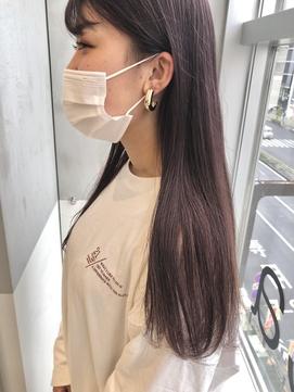 ピンクグレージュ ☆ 外国人風 ロング