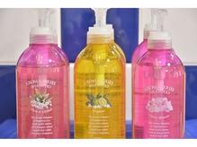 髪に優しいシャンプーは3つの香りから選べます!