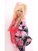 2012☆夏浴衣スタイル 盛り髪.6