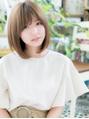 斜めバング☆小顔ナチュラルストレートa川口20代30代40代