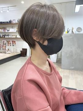 【DISHEL】ハイトーンマッシュショート グレーベージュ