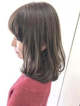☆明るめでも艶感重視のアッシュグレージュカラー☆