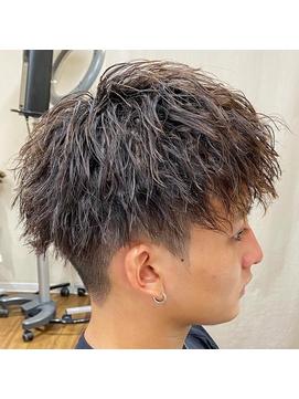 横浜メンズヘアソフトツイストパーマツーブロックマッシュ