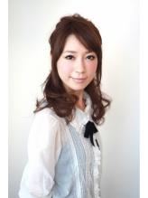 【azule】ふんわりカールハーフアップ☆ 卒園式.26