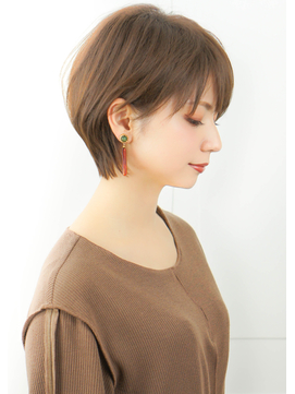 30代・40代大人可愛い☆ハンサムショート小顔サイドブランジュ