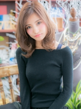 "*+COVER HAIR+*…大人女子のこなれ感""エフォートレス""ミディa くびれカール.22"