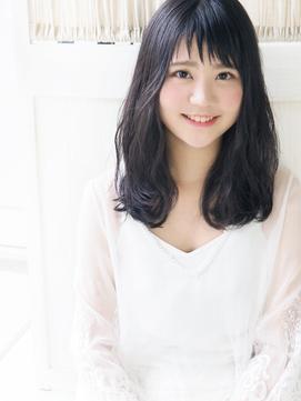 【ジュレベール松田】 黒髪清純ナチュラル可愛いふわセミディ