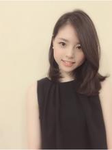 【morio池袋】黒髪ナチュラルミディアムレイヤー ブラウンアッシュ.34