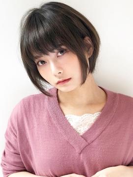 《Agu hair》シースルーバング×ショート・ショートボブ