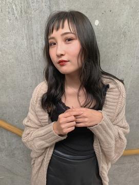 【kicca】アシメバング×オリーブアッシュ