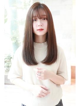 《lien.枦山》大人綺麗ロング/ピンクベージュボブルフ