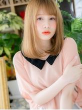 *+COVER HAIR+*…ハイトーンx斜めバング★ドーリーストレートa .23