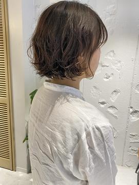 【三ツ井純】20代30代 小顔カット 前髪パーマ ニュアンスパーマ