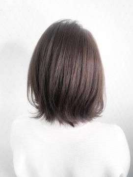 外ハネボブミディ・艶髪アッシュバイオレット