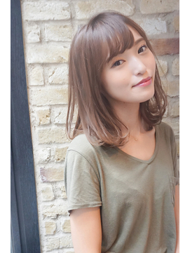 【Monan 新宿】☆工藤指名 小顔カット 褒め髪ミディアムヘア☆