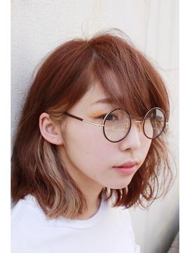 【Ann merry ann】★インナーカラー×ボブ×丸メガネ★