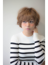 【Divina】ミルクティーカラーxベビーショート 荻野元気 ボディパーマ.31