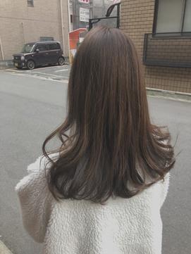 【uta*_girls】 sachi  セミロング×ブラウンベージュ