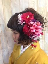 【卒業式】袴スタイル@色鮮やか花かんざしスタイル かんざし.57