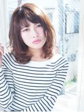 【blue comb】ふんわり鎖骨レングスミディアム .34