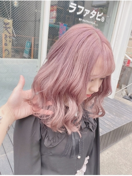 暖色系カラー☆ひし形シルエット☆ペールカラー☆ピンクベージュ