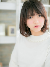 【黒髪でも可愛い☆伸ばしかけボブ】 就活.14