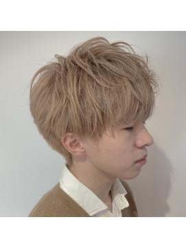 【EIGHT原宿】緑川 ケアブリーチ×ミルクティーベージュ