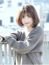 大人かわいいフレンチボブ_毛先パーマ_ベージュカラー【FONS】.56