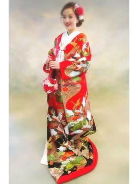 【和装】色打掛★花嫁さんのシニヨンヘアアレンジ3
