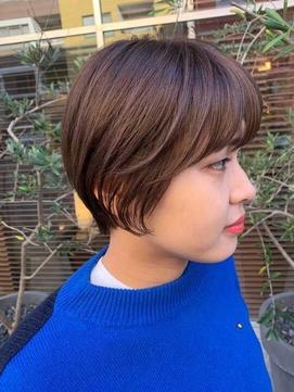 リップラインショートボブ【静岡/オーガニックカラー/髪質改善】