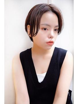 【SHIRO.柏】柔らかい質感の大人センターパートショート