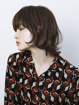 【arte HAIR】マッシュウルフボブ/黒髪/厚めバング