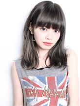 『カット+ハーフブリーチ+ホワイトブラウンインナーカラー』SBB6 くせ毛風.40