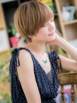 小顔マッシュヘア♪金髪ショートe戸田公園10代20代30代!