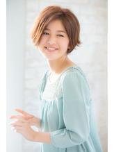 【joemi】小顔になれる☆前髪なしショートボブ(大島) ブラウンアッシュ.48